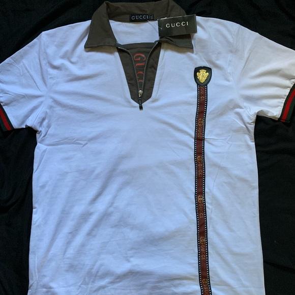 be84ade0c661 White Gucci Polo men s XXXL true fit M L designer